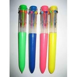 """Ручка автомат 10 цветов.Beifa """"РАКЕТА"""" №16667 / 10уп,400бл"""