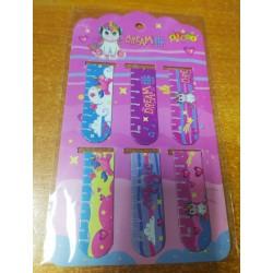 """Закладка с магнитом 13391 """"Unicorn dreams"""" 6шт на карт. планшете"""