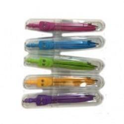 Циркуль (2предм) №SC01001-LC-color в банке, в футляре /10уп,80бл