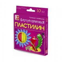 Пластилин 10цв флуор (Луч)