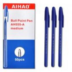 Ручка  шариковая  АН-555-A-CHEN*S (син.)/50уп,2800ящ