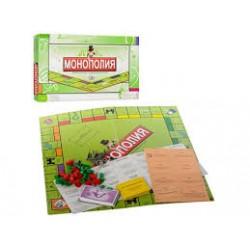 """Игра настольная """"Moнополия"""" 2030R  (игр поле,42*42,фишки,карточки) в коробке 43,5*22*3см"""