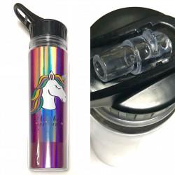 """Кружка пластик JL-6019 """"Lets be unicorns"""" золото, 550мл., для холодных и теплых напитков до 70 град"""