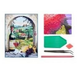 Мозаїка алмазна 5D № F1706 Тосканський краєвид 25 * 33см