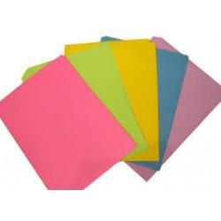Бумага цветная (для дырокол.фигурн.) QZ120 ( 5цв*10шт /  15см.*19см ) ПАСТЕЛЬ
