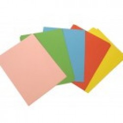 Бумага цветная (для дырокол.фигурн.) QZ80 ( 5цв*10шт /  15см.*19см ) ИНТЕНСИВ