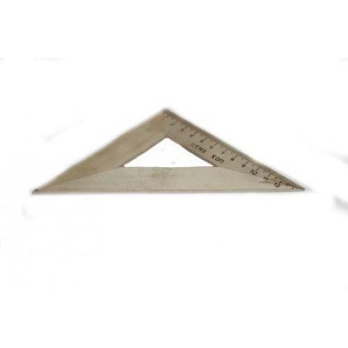 Треугольник  дерев. 16 см.(45*45*90) арт. ТД-14-454590