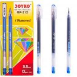 Ручка гел.  Joyko GP-212 (син) Diamond / 12уп,144бл, 1728ящ