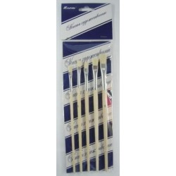 Набор кистей, щетина HXSJ002А  5шт плоские 4,5,6,7,8