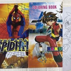 Раскраска с наклейками № 11237 Bakugan Ben-10 Spider-men