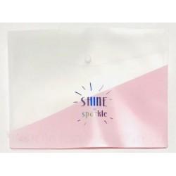 Папка-конверт А4 WB-412 пластик (180мк) 33,5*23,3 /12уп грозовая с надписью