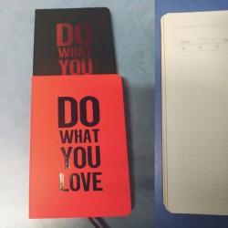 """Ежедн  недатир. А-5  № 2020-6 """"Do what you love."""" (клетка) 150л,  2цв., бархатная обложка"""