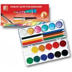 Набор для рисования №5(акв.перл.+кар.воск.) Луч
