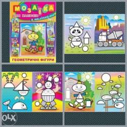 Мозаика для малышей с наклейками 224 6 листов