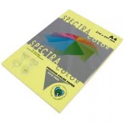 Бумага A4 'Spectra ' ПАСТЕЛЬ 100л/80гр  № 160 ( YELLOW ) Желтый