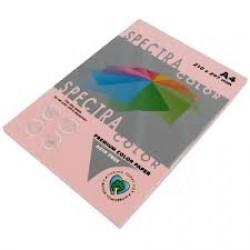 Бумага A4 'Spectra ' ПАСТЕЛЬ 100л/80гр  № 140 ( ROSE ) Нежно розовый