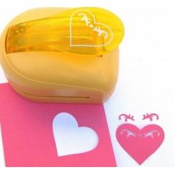 Дырокол фигурный для детск. твор. JF-33CM №3 Сердце с узором