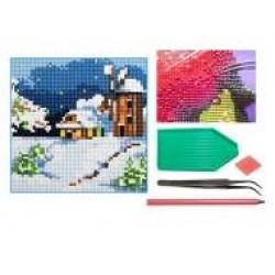 Мозаїка алмазна 5D № F0401 Снежный пейзаж 20 * 20см