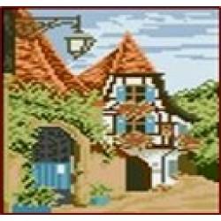 Мозаїка алмазна 5D № F0505 Німецька село 20 * 23см,