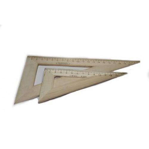 Треугольник  дерев. 16 см.(60*30*90) арт. ТД-15-603090