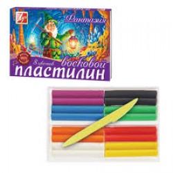 """Пластилин .8цв """"Фантазия"""""""" Премиум """" (Луч) ВОСКОВЫЙ"""