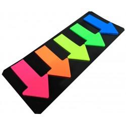 Стикеры самокл. 4026 (5шт 46мм*27мм) стрелки липкие пластиковые цветные/60бл