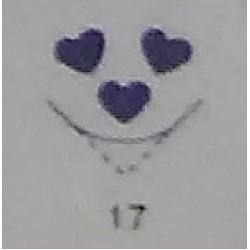 Дырокол фигурный для детск. твор. CD-99MA №17 Три сердца (УГЛОВОЙ)  стр 17