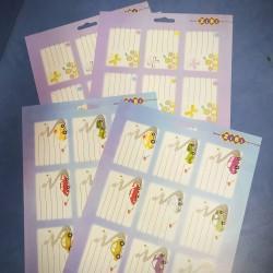 """Наклейка на тетради №1500-07 """"Бабочки"""" А4 налисте 9шт.(55*75) 10листов"""