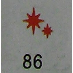 Дырокол фигурный для детск. твор. JF-823C № 86 Две звезды (стр 11-12)