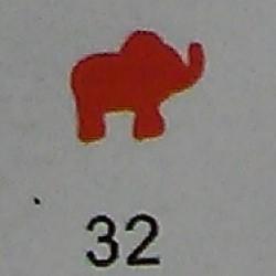 Дырокол фигурный для детск. твор. JF-823C № 32 Слон (стр 11-12)
