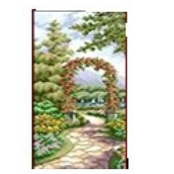 Мозаїка алмазна 5D № F1401  Цветущий сад 22 * 43см