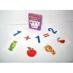 "Карточки обучающие ""Цифри та знаки"" 36 карточек (7,5*5)"