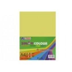 Картон для дизайна А4 180гр, 10л №1085 LIGHT YELLOW светло-желтый