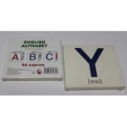"""Карточки обучающие (26 карточек) """"Англ.алфавіт"""""""
