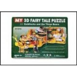 Пазлы 3D картон №XY-616 Три медведя