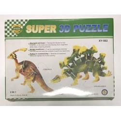 Пазлы 3D картон №XY-502 Динозавры (2в1)
