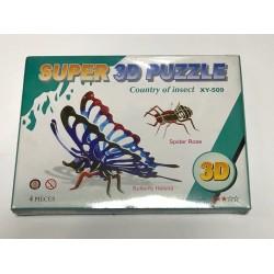 Пазлы 3D картон №XY-509 Насекомые