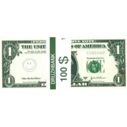 """Пачка денег (сувенир) №008 Доллары """"1"""""""