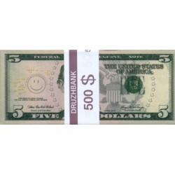 """Пачка денег (сувенир) №009 Доллары """"5"""""""