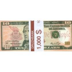 """Пачка денег (сувенир) №010 Доллары """"10"""""""