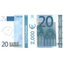"""Пачка денег (сувенир) №003 Евро """"20"""""""