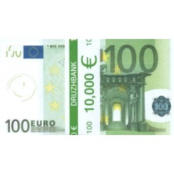 """Пачка денег (сувенир) №005 Евро """"100"""""""