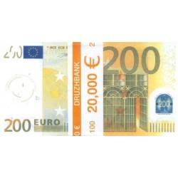 """Пачка денег (сувенир) №006 Евро """"200"""""""
