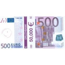 """Пачка денег (сувенир) №007 Евро """"500"""""""