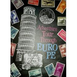 """Тетрадь А-5 тв.пер. А5079 """"Tour Europe"""" 120л, клетка"""