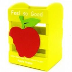 "Подставка для ручек дерево №W65 ""Яблоко"" 11*8,5*7 микс цв"