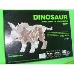 """Конструктор №K1351 пластик 3D 700 деталей  """"Динозавр"""""""