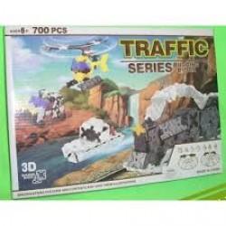 "Конструктор №K1353 пластик 3D 700 деталей  ""Транспорт"""