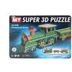 Пазлы 3D картон №XY-636 Паровоз