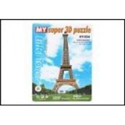 Пазлы 3D картон №XY-634 Эйфелева башня